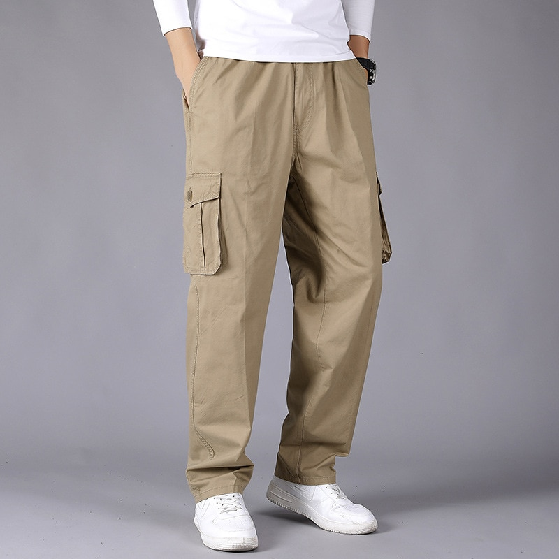 Baggy Straight Cargo Jogger Trousers