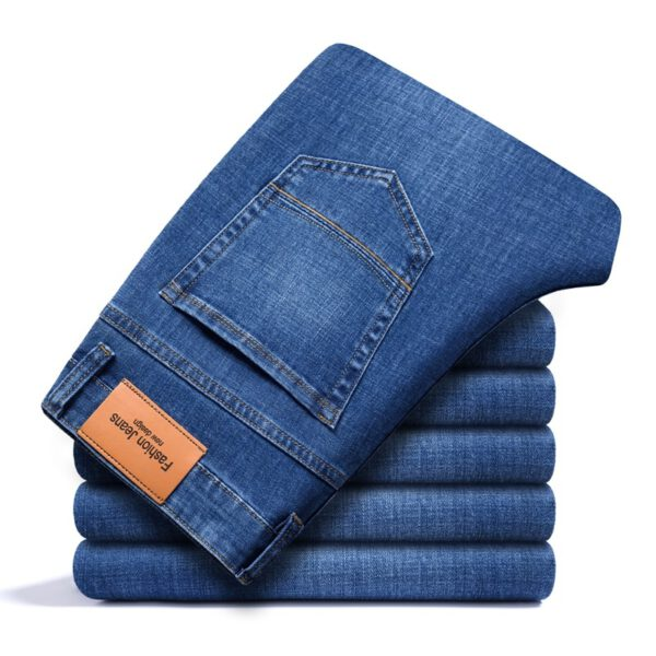 Business Casual Fitted Straight Jeans
