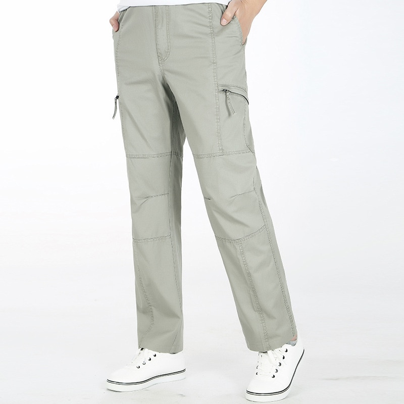 Cargo Pants Cotton Loose Trousers