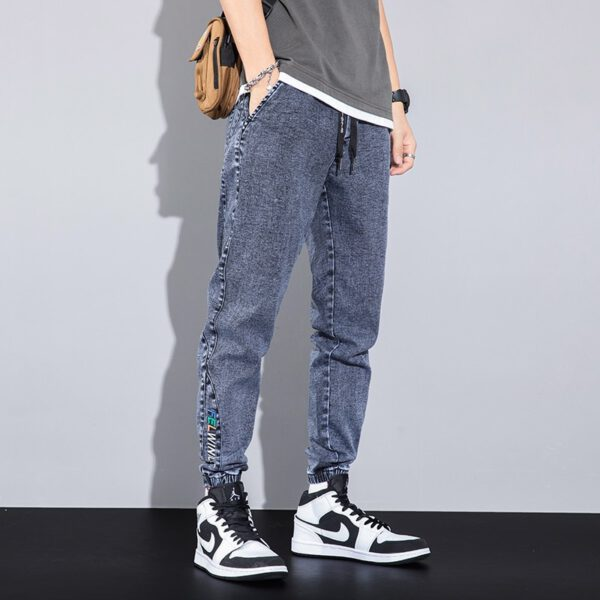 Embroidery Casual Pants Korean Jeans