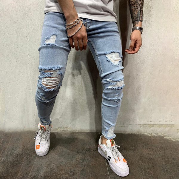 Ripped Skinny Trousers Jeans Pants