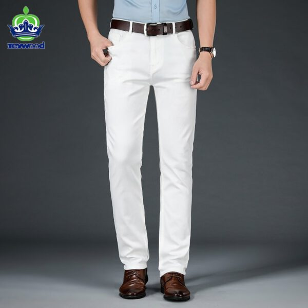 Spring White Jeans Casual Pants