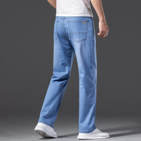 Summer Jeans Elastic Business Trousers